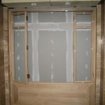 Oak custom made shop front
