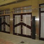 Mahogany shop front